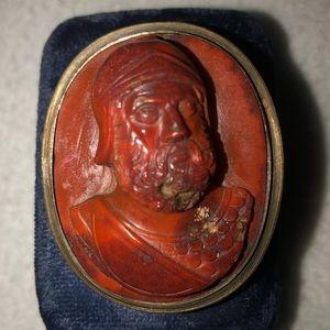 Other - Roman Warrior: Vintage Silver/Carnellian Brooch